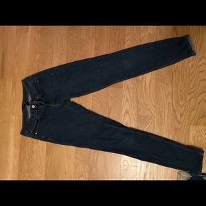 White house black market dark skinny jean size 0